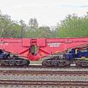 Heavy Lift 1m Pound Capacity Schnabel Railcar By Emmert International Poster