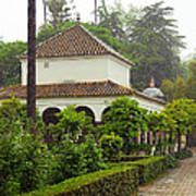 Heavy Rain In Alcazar Gardens Poster