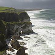 Heavy Surf On The Irish Coast Poster