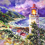 Heceta Head Lighthouse Poster by Ann  Nicholson