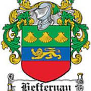 Heffernan Coat Of Arms Irish Poster