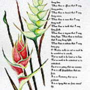 Heliconia Poem Poster