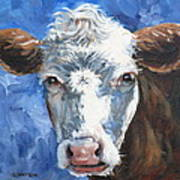 Hello Cow Poster