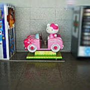 Hello Kitty Car Poster