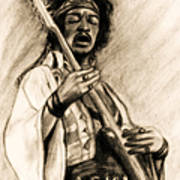 Hendrix-antique Tint Version Poster