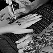 Henna Artist At Play Poster