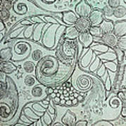 Henna Pattern Poster by Salwa  Najm