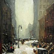 Henri's Snow In New York Poster