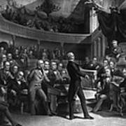Henry Clay Speaking In The Senate Poster