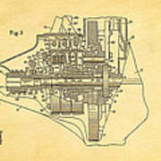 Henry Ford Transmission Mechanism Patent Art  2 1911 Poster