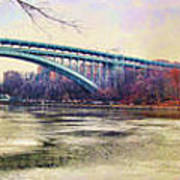 Henry Hudson Bridge And The Palisades Poster