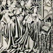 Henry Vi And His Court At  Prayer Poster