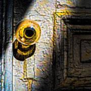 Her Glass Doorknob Poster