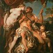 Hercules And Omphale Poster by Francois Le Moyne