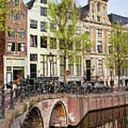Herengracht Canal Houses In Amsterdam Poster