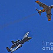Heritage Flight A-10 F-86 Poster