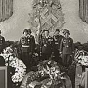 Hermann Goering At The Funeral Poster