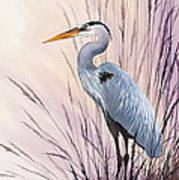 Herons Driftwood Home Poster