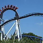 Hershey Park - Great Bear Roller Coaster - 121213 Poster by DC Photographer