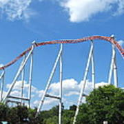 Hershey Park - Storm Runner Roller Coaster - 12126 Poster by DC Photographer