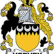 Hervey Coat Of Arms Irish Poster