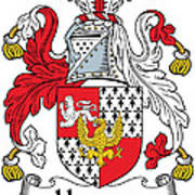 Hewson Coat Of Arms Irish Poster