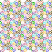 Hexagonal Cubes Poster