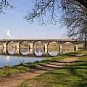 Hexham Bridge And Riverside Path Poster