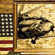 Hh-60 Pave Hawk Rustic Flag Poster