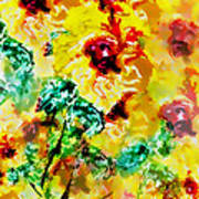 Hibiscus Impressionist Poster