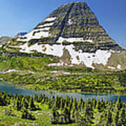 Hidden Lake In Glacier National Park Poster