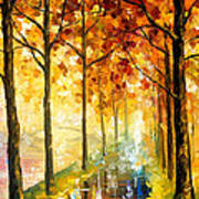 Hidden Path - Palette Knife Oil Painting On Canvas By Leonid Afremov Poster