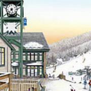 Hidden Valley Ski Resort Poster by Albert Puskaric