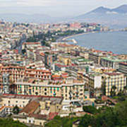 High Angle View Of A City, Naples Poster
