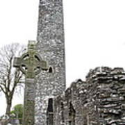 High Cross And Round Tower Monasterboice Poster