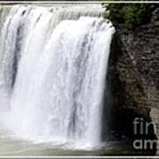 High Falls In Rochester New York Poster