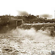 High Falls On The Genesee River Rochester New York At Flood Stage Circa 1904 Poster