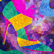 High Heels On Ropes Poster by Kenal Louis