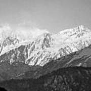High Himalayas - Black And White Poster