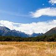 High Peaks Of Eglinton Valley In Fjordland Np Nz Poster