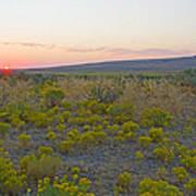 High Plains Desert Landscape Poster
