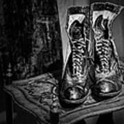 High Top Shoes - Bw Poster