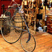 High Wheel 'penny-farthing' Bike Poster by Christine Till
