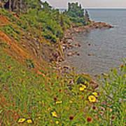 Highlands Coastline In Cape Breton Highlands Np-ns Poster