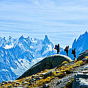 Hiking Above Chamonix On The Lac Blanc Trail Poster