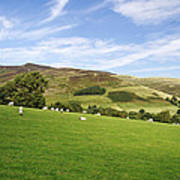 Hill Range North Of Edale Poster