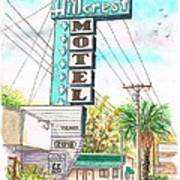 Hillcrest Motel In Route 66 - Andy Devine Ave In Kingman - Arizona Poster