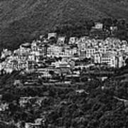 Hillside Amalfi Coast Poster