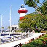 Hilton Head Lighthouse And Marina 2 Poster