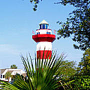 Hilton Head Lighthouse And Palmetto Poster